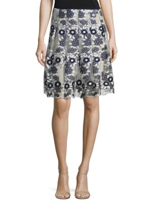 Nicole Embroidered Skirt T Tahari