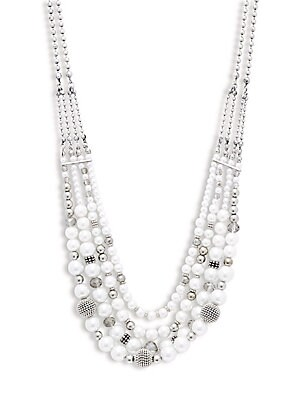 Row Nested Faux Pearl Necklace