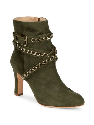 IZZY ANKLE WRAP SUEDE BOOTS