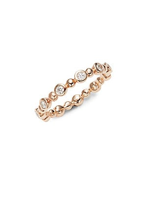 Bezel Stackable Diamond Ring