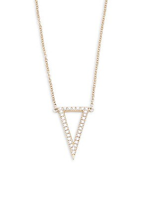 Click here for Pave Diamond Triangle Pendant Necklace prices