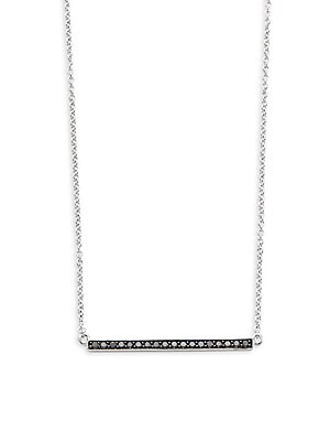 Click here for Black Diamond Bar Pendant Necklace prices