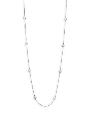 Click here for Smooth Bezel Diamond Necklace prices