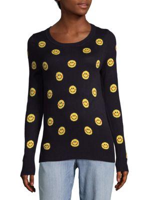 Emoticon Print Sweater