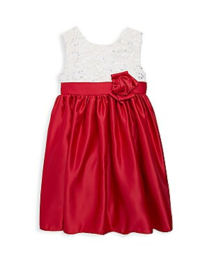 Little Girl's Carol Satin Dress