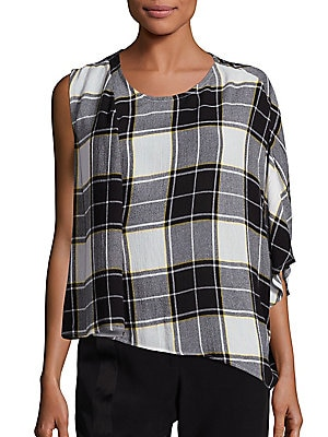 Aloran Plaid Top