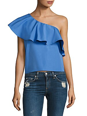 Calla Ruffled Cotton Top