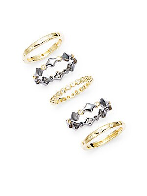 Harlequin Five-Piece Stackable Ring Set
