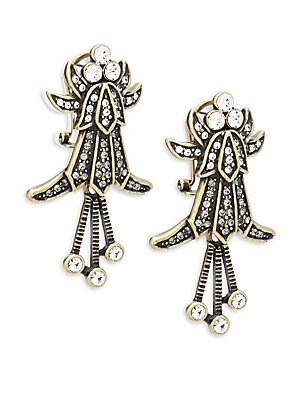 Deco Crystal Drop Earrings