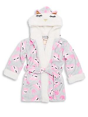 Little Girl's Owl Themed Robe