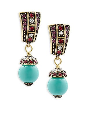 Faux Pearl and Crystal Drop Earrings