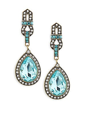 Long Teardrop Crystal Earrings