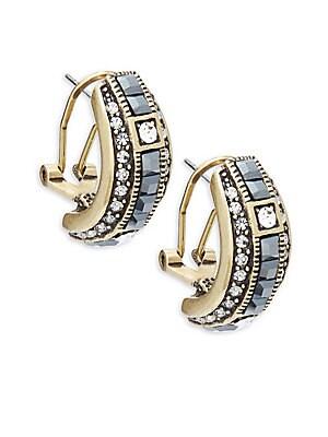 Crystal J-Hoop Earrings