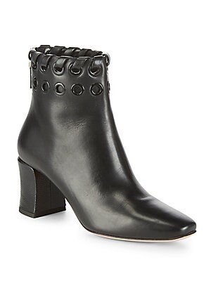 Zip Leather Booties
