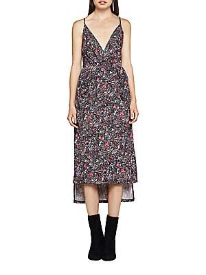 Dancing Gardens Faux-Wrap Midi Dress