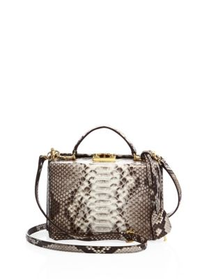 Grace Small Leather Box Crossbody Bag