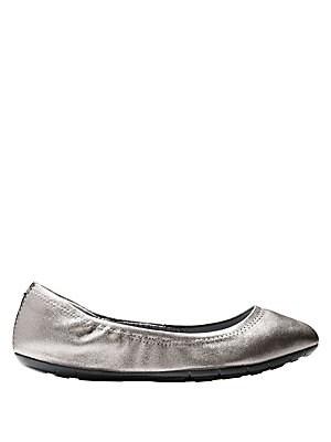 Zerogrand Leather Ballet Flats