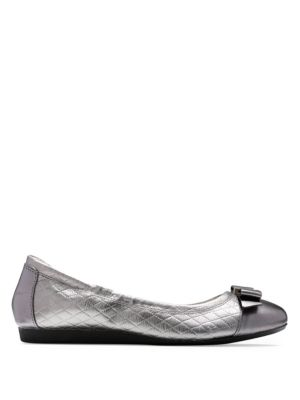 Elsie Bow Leather Ballet Flats