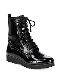 Donald J Pliner - Camren Leather Combat Boots