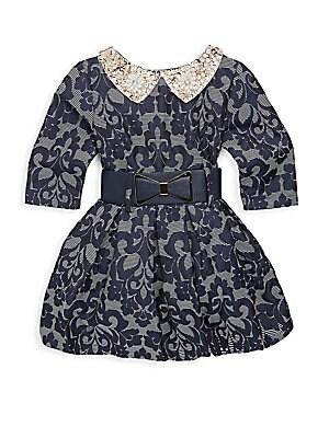 Little Girl's & Girl's Fashionable Belted Dress
