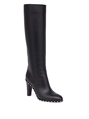 Soul Studded Leather Tall Boots
