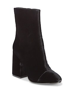 Ash - As-Flora Velvet Ankle Boots