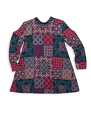 Girl's Patchwork A-line Dress
