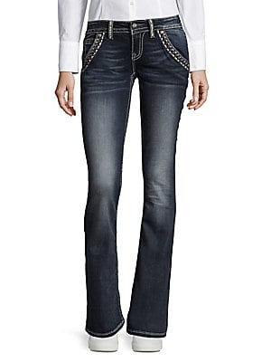 Embroidered Bootcut Jeans