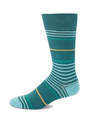 Striped Mid-Calf Socks