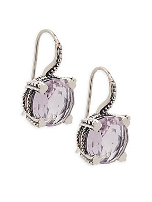 Pale Amethyst Drop Earrings