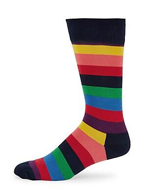 Unisex Striped Crew Socks