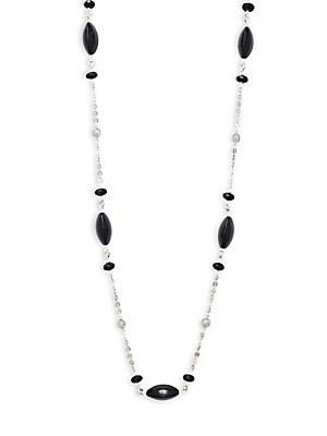 Black Agate Short Strand Necklace