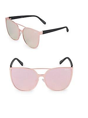 Mirrored 60MM Cat Eye Sunglasses
