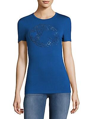 Cotton Studded Logo T-Shirt