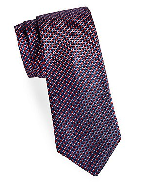 Dotted Square Silk Tie