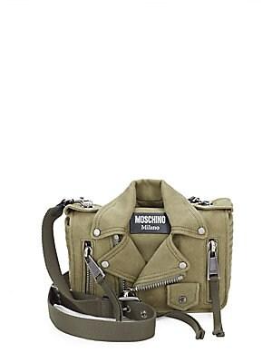 Biker Jacket Canvas Shoulder Bag