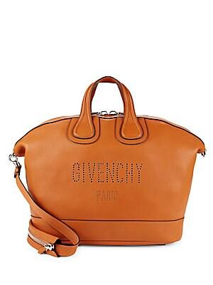 Top Zip Leather Top Handle Bag
