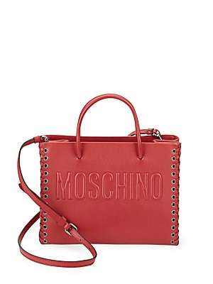 Lace Sides Leather Tote