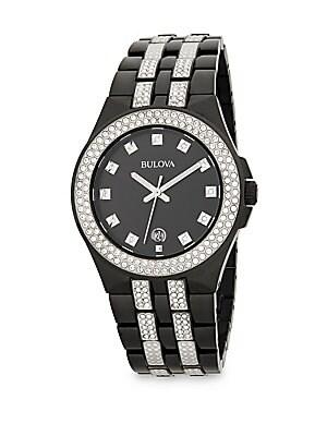 Crystal Stainless Steel Bracelet Watch