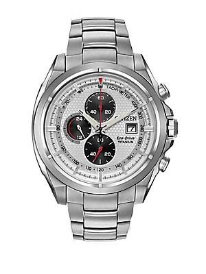 Titanium Chronograph Bracelet Watch