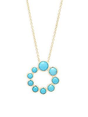 Lollipop 18K Yellow Gold Pendant Necklace
