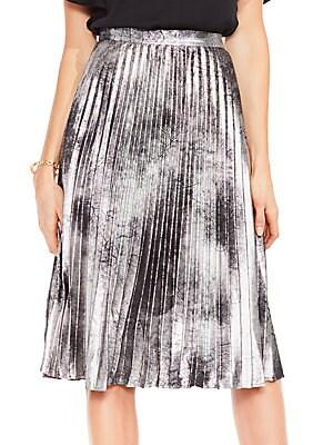 Metallic Suede Skirt