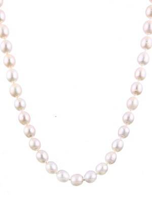 9-10MM Rice Shaped Pearl Necklace