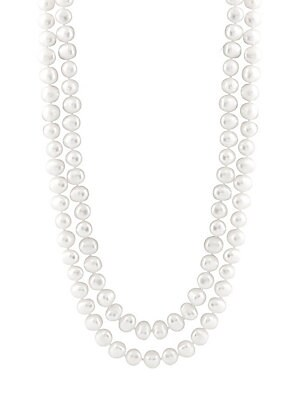 9-10MM White Baroque Fresh Pearl Necklace