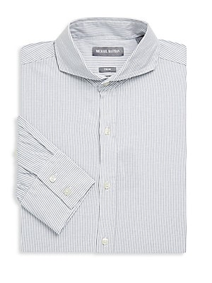 Washed Striped Dress Shirt