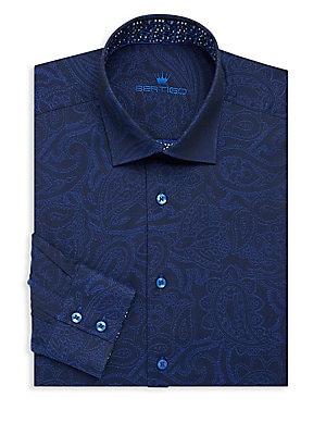 Cotton Paisley Dress Shirt