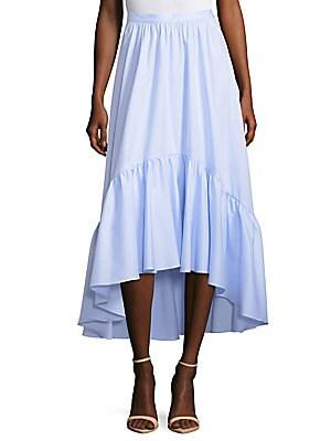 Hi-Lo Cotton Midi Skirt