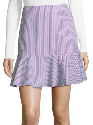 Stripe Cotton Mini Skirt