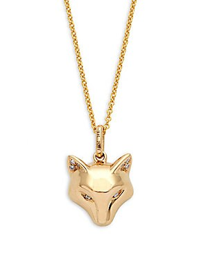 Click here for Fox Diamond and 14K Yellow Gold Pendant Necklace prices