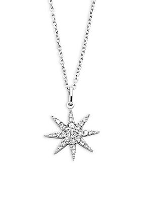 Click here for Starburst Diamond and 14K White Gold Pendant Neckl... prices